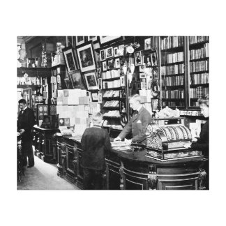 Copenhagen Bookstore, 1899 Gallery Wrapped Canvas