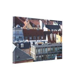 Copenhagen city canvas print