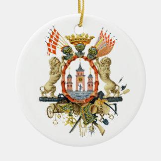 Copenhagen Coat of Arms Christmas Ornament