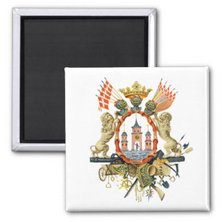 Copenhagen Coat of Arms Square Magnet