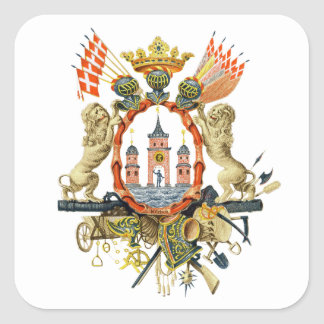 Copenhagen Coat of Arms Square Sticker