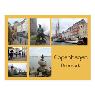 Copenhagen Collage 2 Postcard