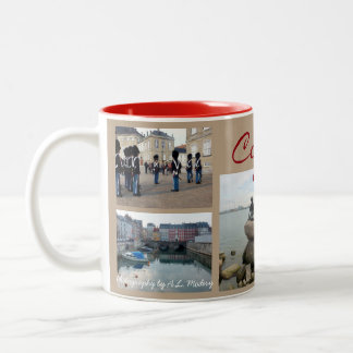 Copenhagen Collage Two-Tone Coffee Mug
