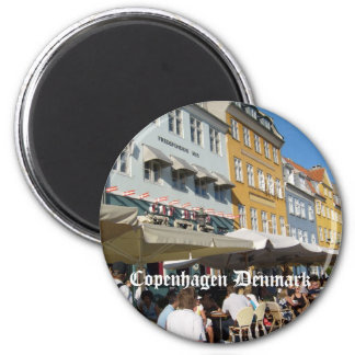 Copenhagen, Denmark 6 Cm Round Magnet