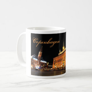 Copenhagen, Denmark at night Coffee Mug