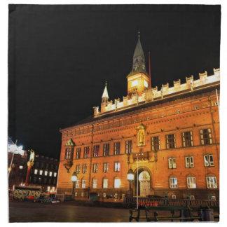 Copenhagen, Denmark at night Napkin