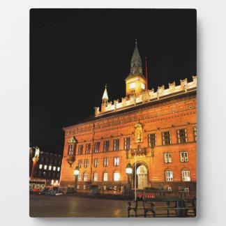 Copenhagen, Denmark at night Plaque