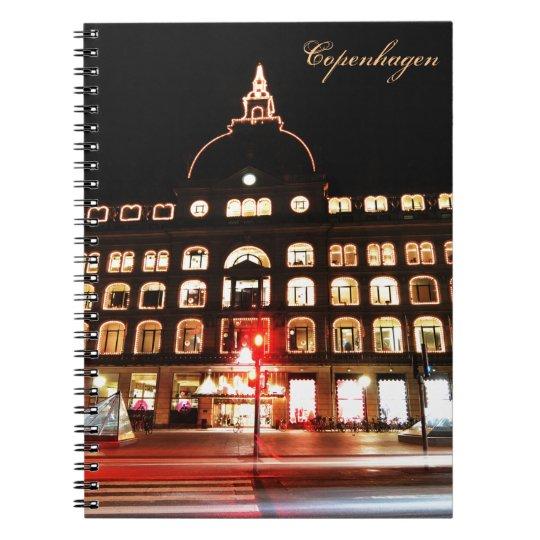 Copenhagen, Denmark at night Spiral Notebook
