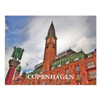 Copenhagen Denmark Building Postcard
