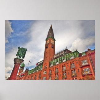 Copenhagen Denmark Building Posters