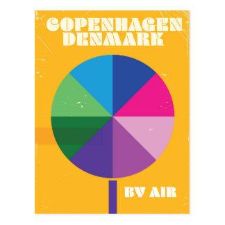 Copenhagen, Denmark vintage travel poster Postcard