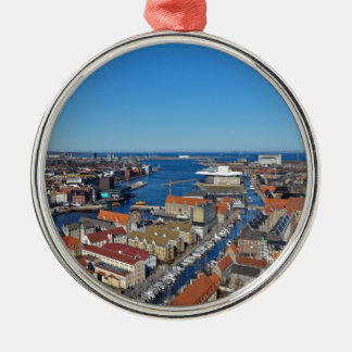 Copenhagen Port  top of Vor Frelsers Kirke Christmas Ornament