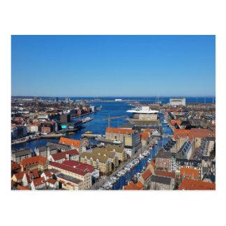 Copenhagen Port  top of Vor Frelsers Kirke Postcard