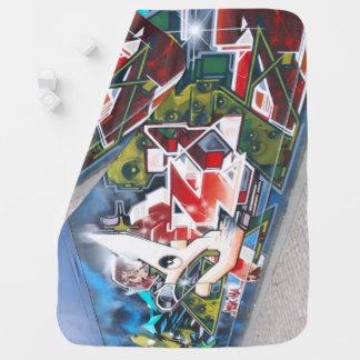 Copenhagen Street Graffiti Art Baby Blanket