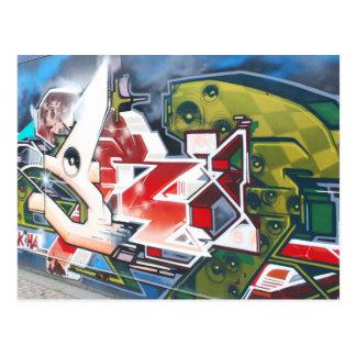 Copenhagen Street Graffiti Art Postcard