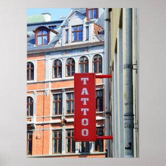 Copenhagen Tattoo Shop Poster