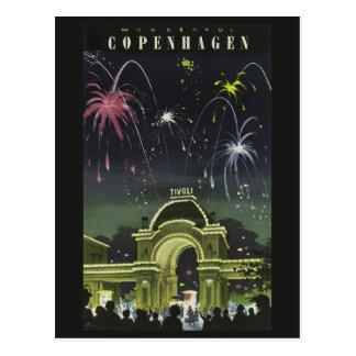 Copenhagen Vintage Travel postcard