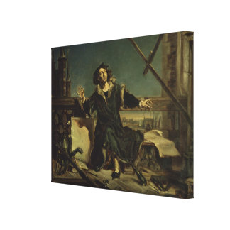 Copernicus in the tower at Frombork Canvas Print