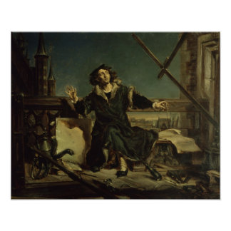 Copernicus in the tower at Frombork Poster