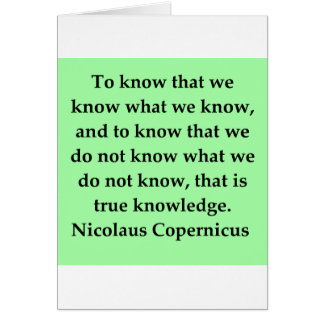 copernicus quote card