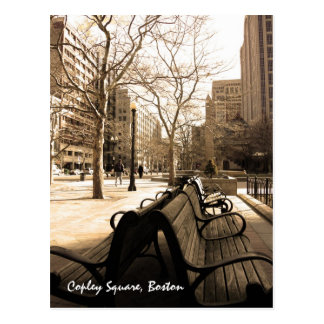 Copley Square Benches Postcard