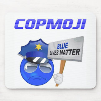 CopMoji - Blue Lives Matter Mouse Pad