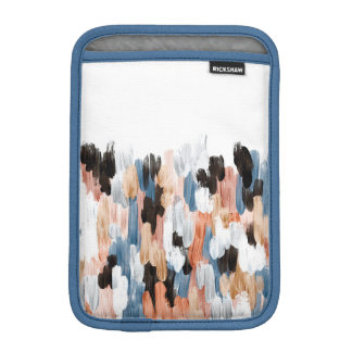 Copper and Blue Brushstrokes Abstract Design Sleeve For iPad Mini