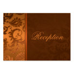 Copper and Brown Damask II Enclosure Card Pack Of Chubby Business Cards