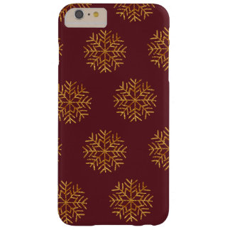 Copper and Burgundy Snowflakes Phone Case