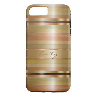 Copper And Metallic Gold Stripes iPhone 8 Plus/7 Plus Case