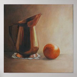 Copper and Orange Art Print