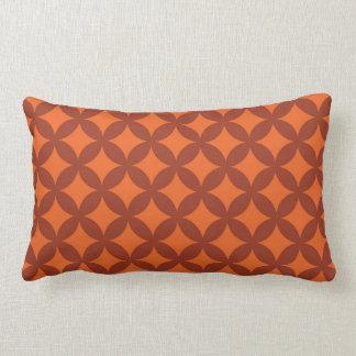 Copper and Orange Geocircle Design Lumbar Cushion