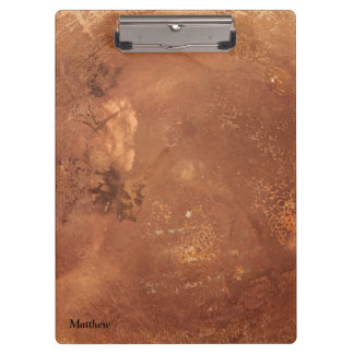 Copper background clipboards