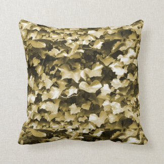 Copper & Bronze Ivy Leaves Throw Cushion