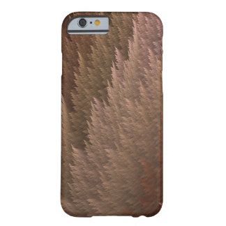 Copper Bronze Tan Tartan Feather Pattern Case Barely There iPhone 6 Case