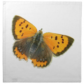 Copper butterfly design napkins