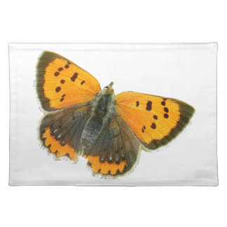 Copper butterfly design placemats
