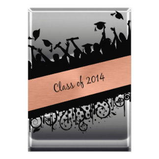 Copper Chrome Diagonal Slash Class of 2014 Invites