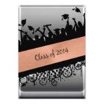Copper & Chrome Diagonal Slash Class of 2014 Personalised Invite