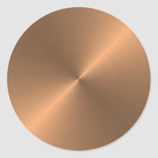 Copper Classic Round Sticker