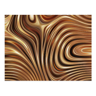 Copper Coffee Swirls Postcard