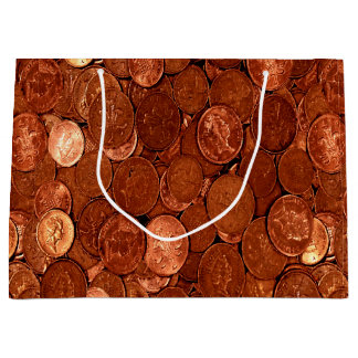 Copper Coins Large Gift Bag