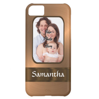 Copper colored photo template iPhone 5C case