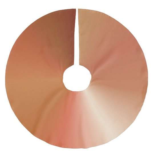 Copper Coloured Metallic Style Gradient Brushed Polyester Tree