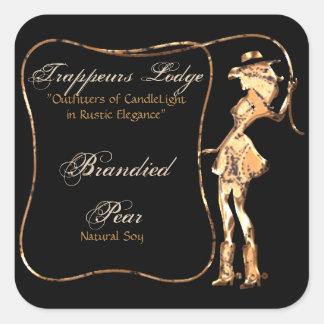 Copper Cowgirl with Lasso Candle Label Square Sticker