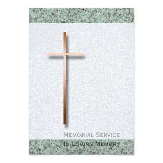 Copper Cross Stone 1 Funeral Announcement