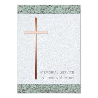 Copper Cross Stone 2 Funeral Announcement
