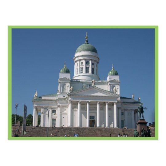 Copper-Domed Church In Helsinki Postcard