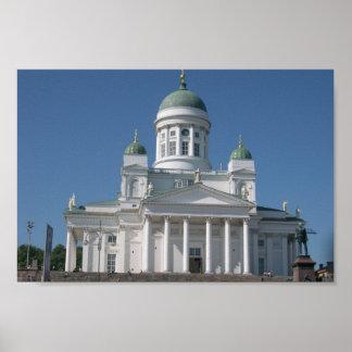 Copper-Domed Church In Helsinki Poster
