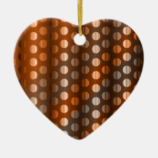 Copper Dots Ceramic Heart Decoration